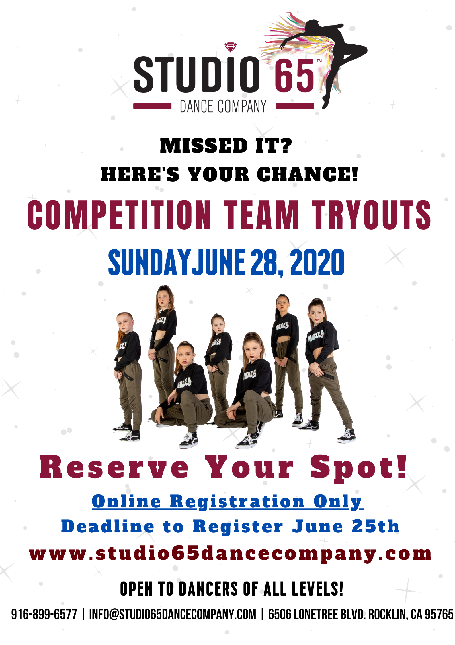 Season 5 Sunday Audition Flyer
