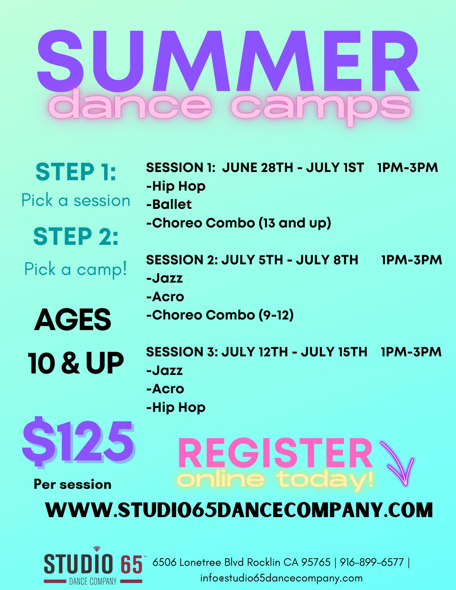 Sumer Dance Class Afternoon